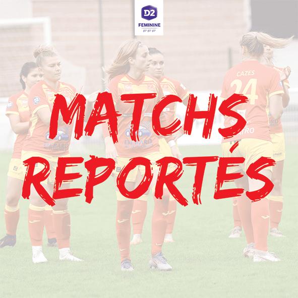 D2 Féminine : report des matchs face à Marseille et Mérignac